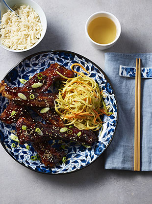 Sandy Tang's Shanghai Sweet & Sour Spare Ribs with Asian Coleslaw